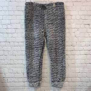 Mentally Exhausted Soft Fuzzy Gray Joggers